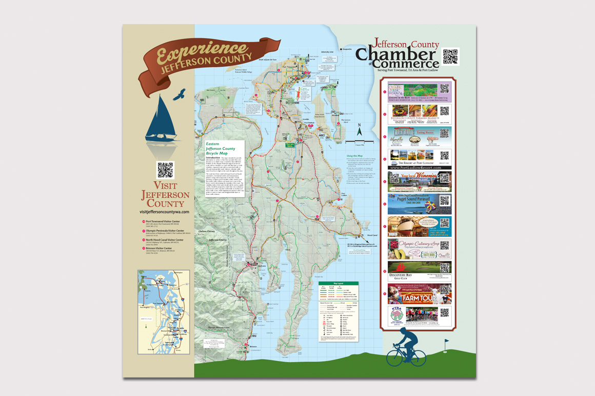 Kiosk Map at Chimacum Corner