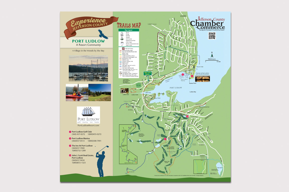 Kiosk Map at Port Ludlow